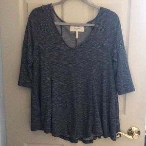 Anthropologie blue striped top